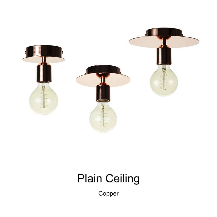 Plain Ceiling_Copper: SANUC의  복도, 현관 & 계단,