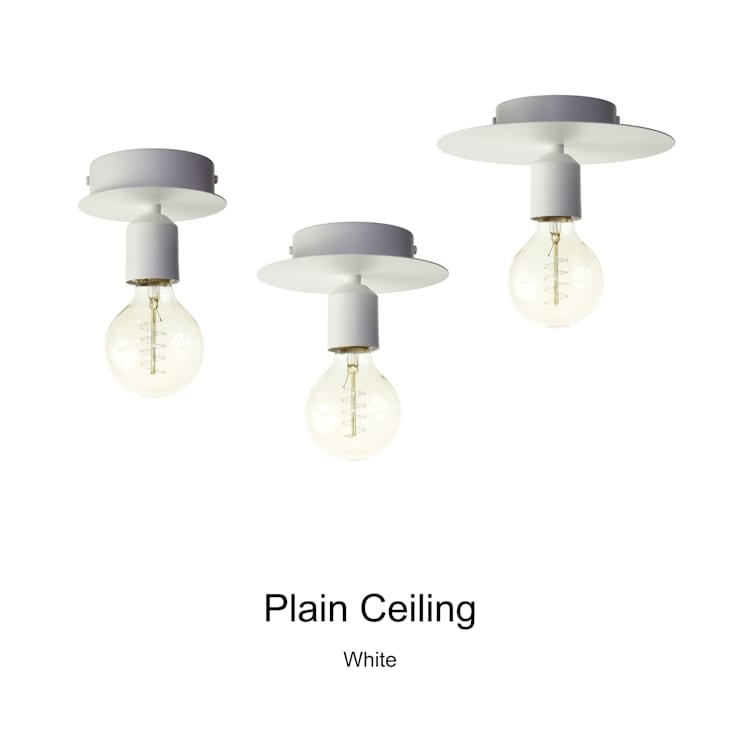 Plain Ceiling_White: SANUC의  복도, 현관 & 계단