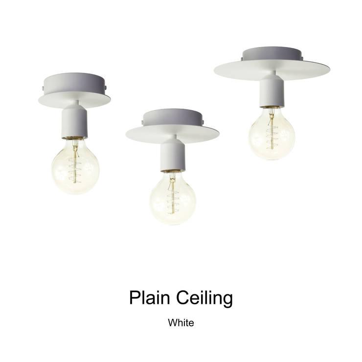 Plain Ceiling_White: SANUC의  복도, 현관 & 계단,