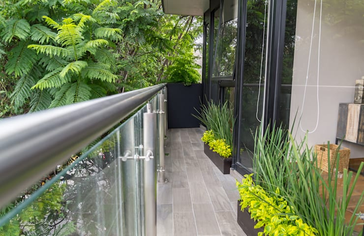 Choapan Decor by Erika Winters®Design Balcones y terrazas modernos de Erika Winters® Design Moderno
