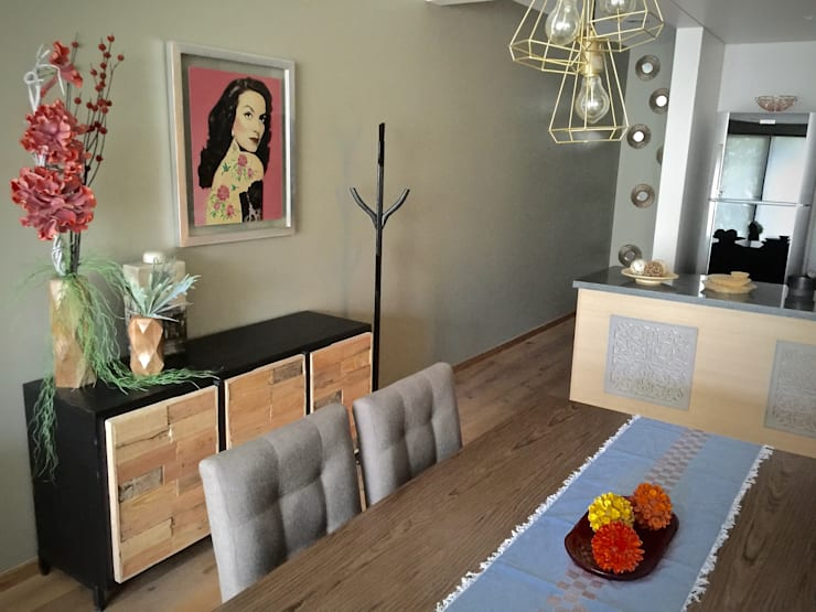 Choapan Decor by Erika Winters®Design: Comedores de estilo  por Erika Winters® Design