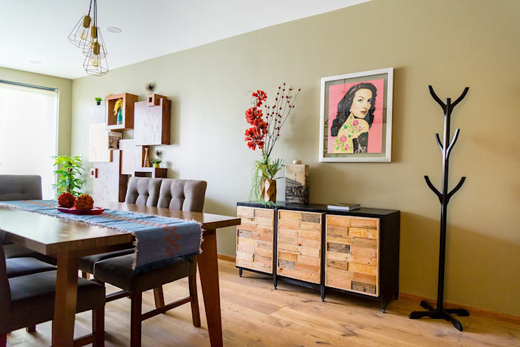 Choapan Decor by Erika Winters®Design: Comedores de estilo ecléctico por Erika Winters® Design