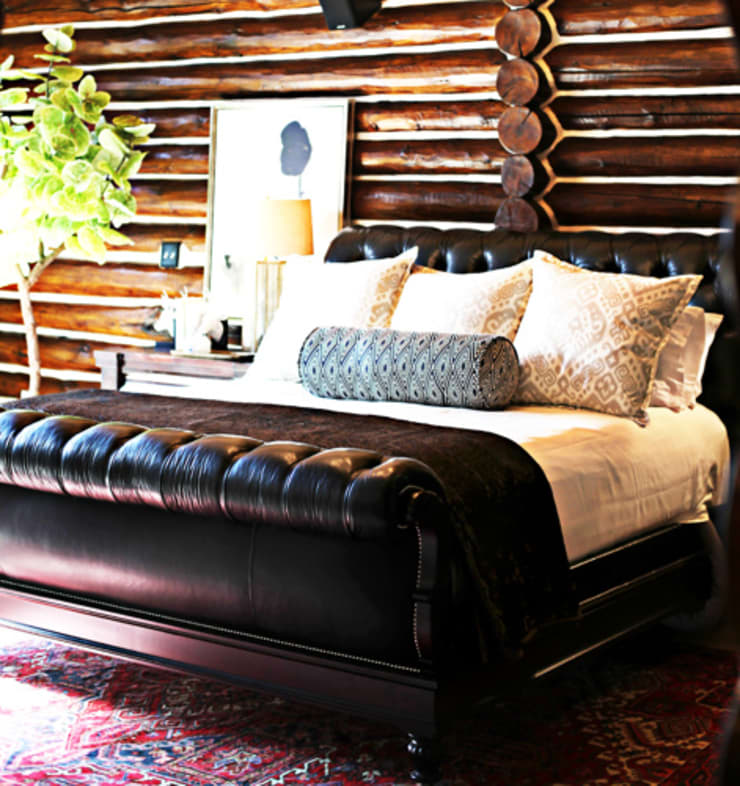 Lodge Living:  Bedroom by The Design Shoppe