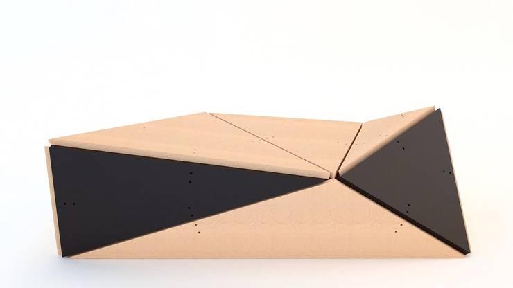 Banca Dynamo modelo 003: Oficinas y tiendas de estilo  por GZ2 Arquitectura
