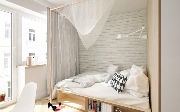 Dormitorios de estilo escandinavo por Krystyna Regulska Architektura Wnętrz