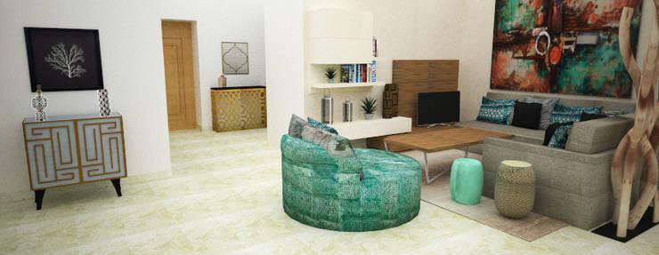 Sala de Estar:   por Atelier  Ana Leonor Rocha