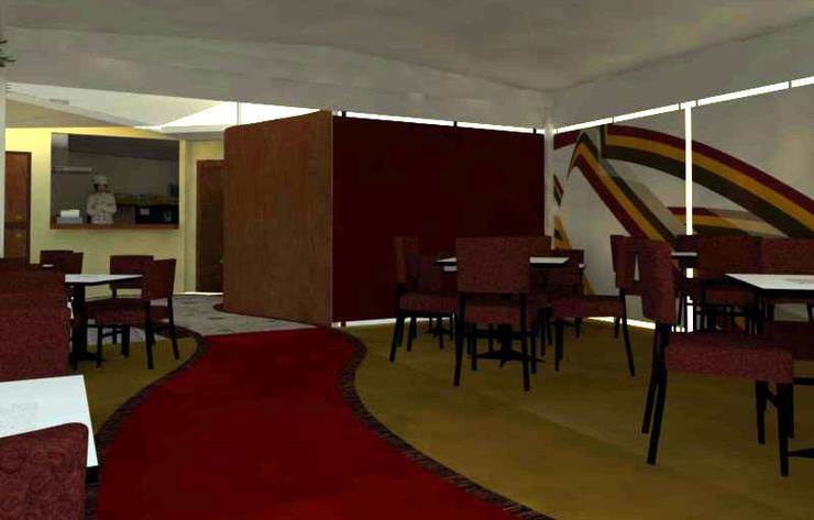 Local del comida rápida: Restaurantes de estilo  por Loft estudio C.A.
