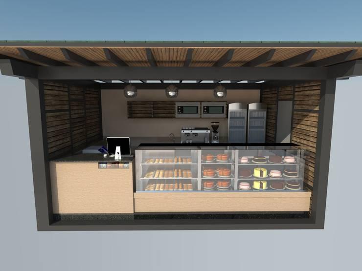 Kiosco: Restaurantes de estilo  por Atahualpa 3D