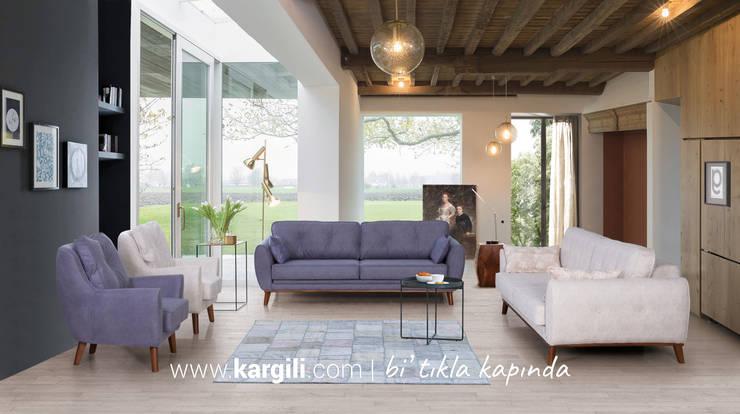 Kargılı Ev Mobilyaları – Anemon Modern Koltuk Takımı:  tarz Oturma Odası