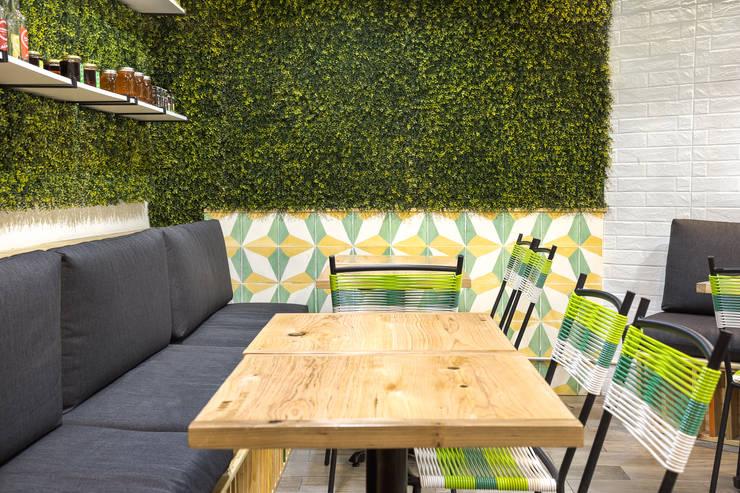 FFF Santa Fé - Detalle 01: Restaurantes de estilo  por MX Taller de Arquitectura & Diseño