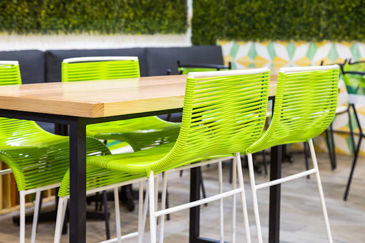 FFF Santa Fé - Detalle 01 Gastronomía de estilo moderno de MX Taller de Arquitectura & Diseño Moderno