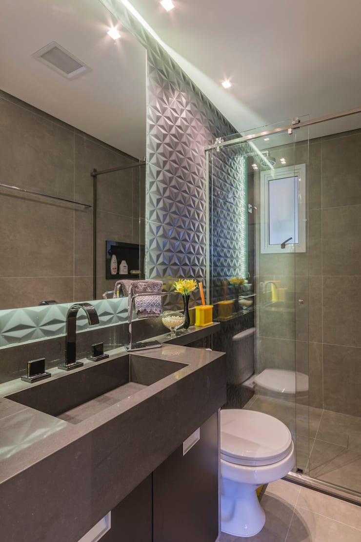 Colors: Banheiros  por Lo. interiores