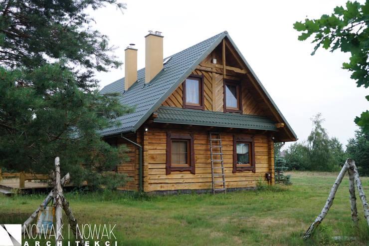 Houses by Nowak i Nowak Architekci, Country Wood Wood effect
