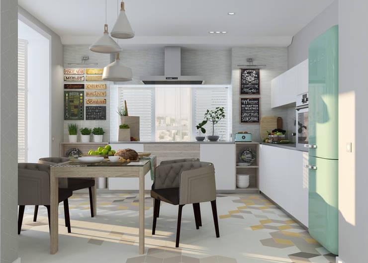Cocinas de estilo  por Студия дизайна Дарьи Одарюк
