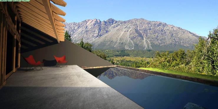 Casa Irigoyen: Terrazas de estilo  por AHA! Arquitectura