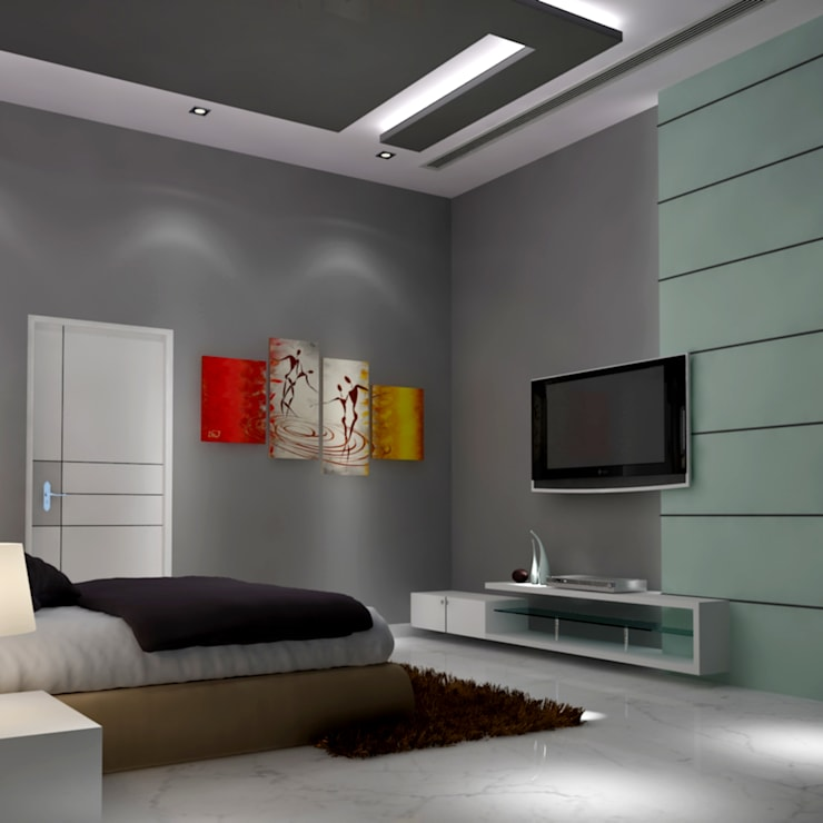 Residence @ vizag: modern Bedroom by SunDial Associates