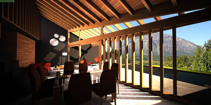 Casa Irigoyen: Comedores de estilo  por AHA! Arquitectura