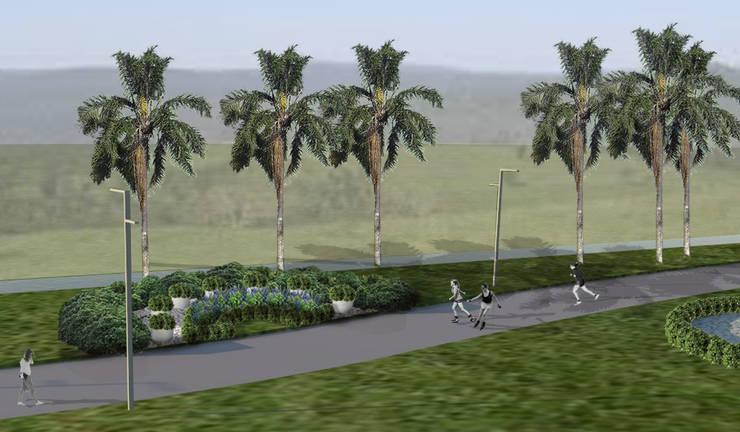 Proyecto de Forestacion. Barrio Cerrado: Jardines de estilo  por BAIRES GREEN