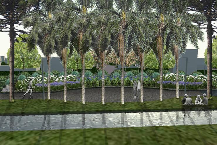 canteros y agua: Jardines de estilo  por BAIRES GREEN