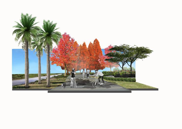 senderos para fitness: Jardines de estilo  por BAIRES GREEN