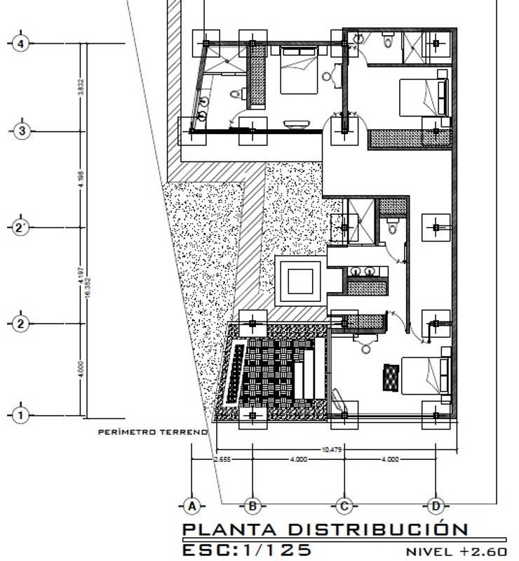 Casa ZEN: Cuartos de estilo  por Arquitecto Eduardo Carrasquero