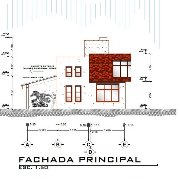 Casa LOBO: Casas de estilo  por Arquitecto Eduardo Carrasquero