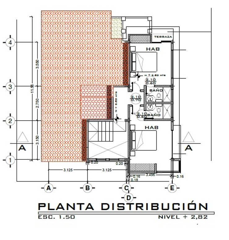 Casa LOBO: Cuartos de estilo  por Arquitecto Eduardo Carrasquero