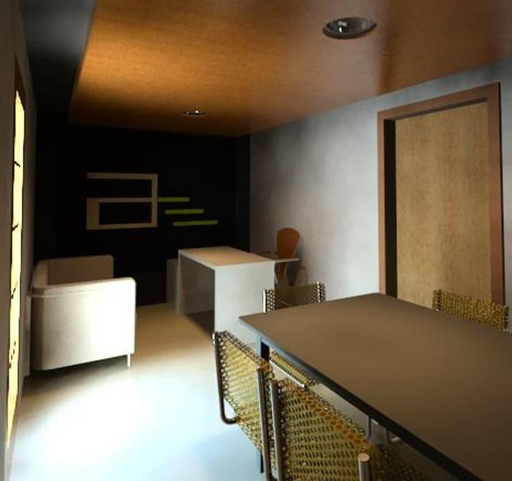Remodelación Oficina Arte: Oficinas y tiendas de estilo  por arte & espacio