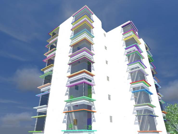 Residencia Estudiantil:  de estilo  por Arquitecto Eduardo Carrasquero