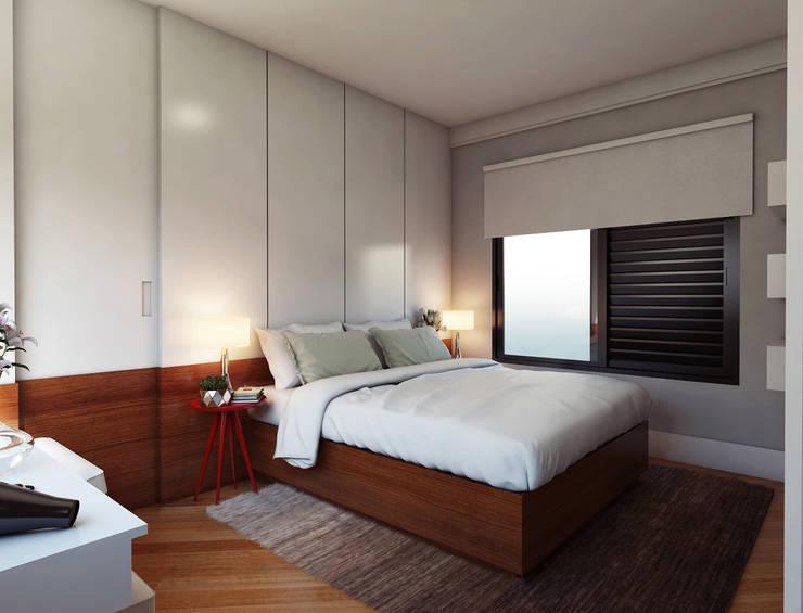 Dormitorios de estilo  por Lozí - Projeto e Obra