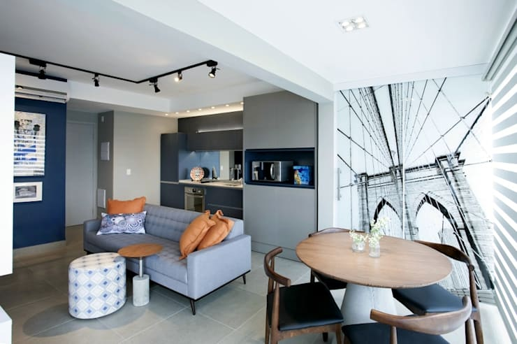 Sala de Jantar integrada: Salas de jantar industriais por Aonze Arquitetura