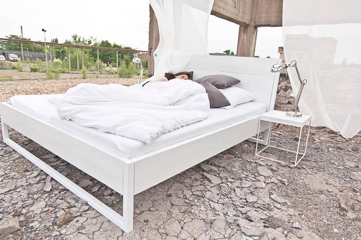 Loft Vintage Industrial Bed Bett White By N51e12 Design