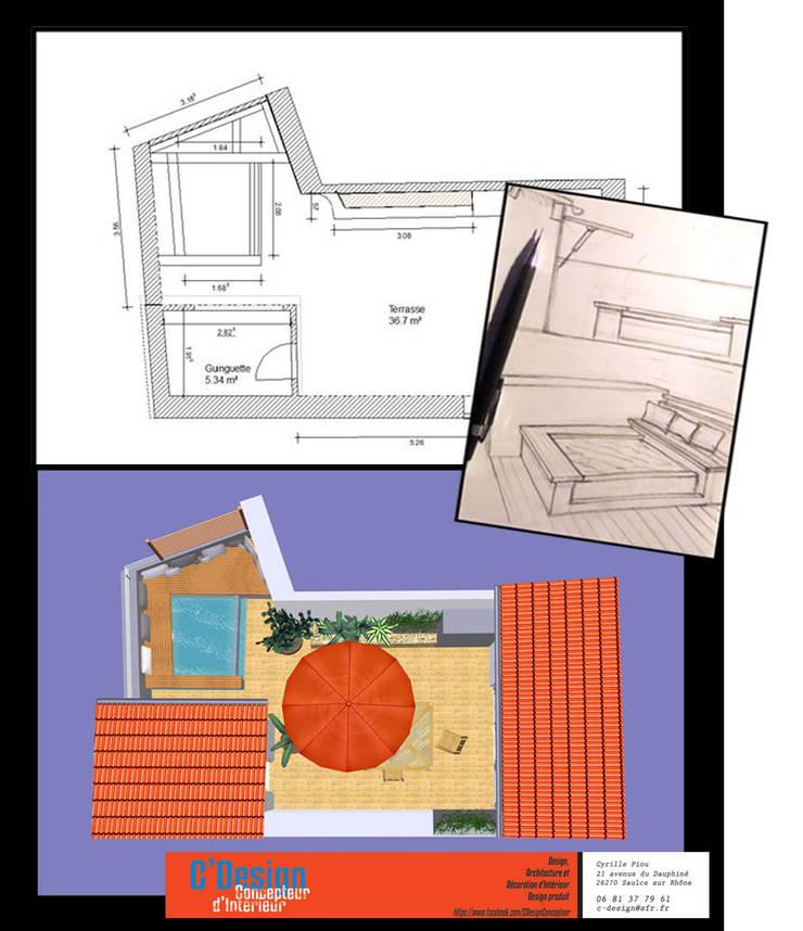 Patios & Decks by C'Design, Eclectic