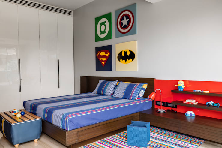 eclectic Nursery/kid's room by Rakeshh Jeswaani Interior Architects