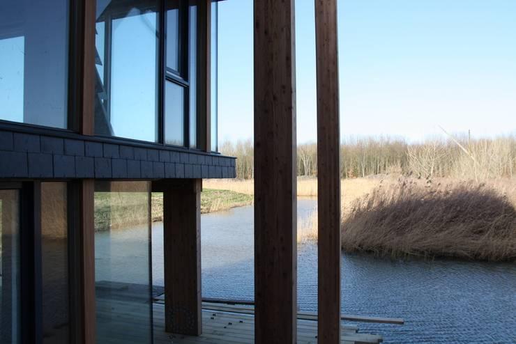 Woning met werkruimte, Homerus kwartier Almere Poort:  Terras door Architectenbureau Jules Zwijsen