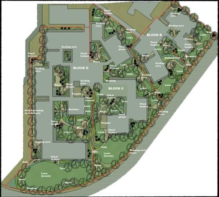 Modimolle Hospital Sketch Plan:   by Mohlolo Landscape Architects