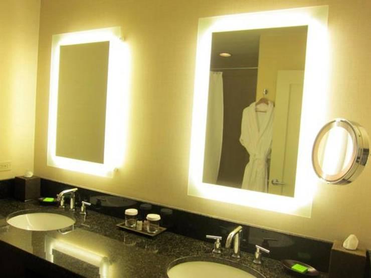 Customized Glass LED Work:  Artwork by Innovate Interiors & Fabricators