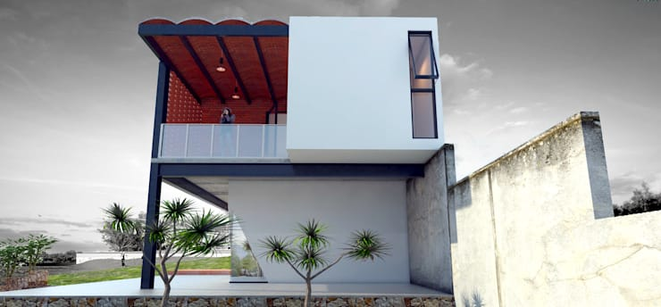 posterior: Casas de estilo  por Vintark arquitectura