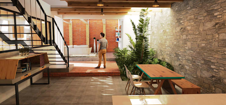 Столовые комнаты в . Автор – Vintark arquitectura , Модерн Кирпичи