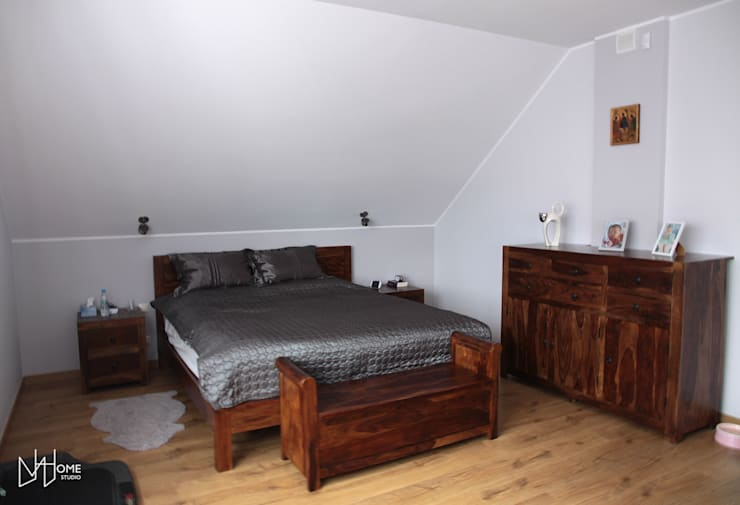 Sypialnia przed: styl , w kategorii Sypialnia zaprojektowany przez Mhomestudio