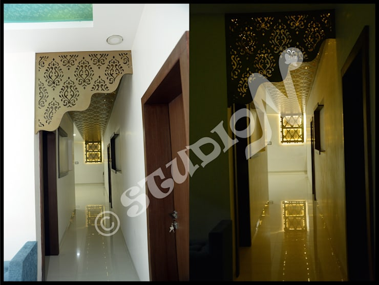 Residential Project in Bhopal:  Corridor & hallway by StudioN,Modern
