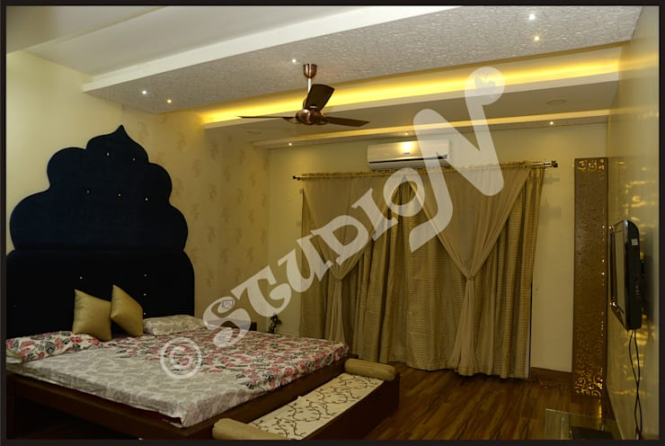 Residential Project in Bhopal:  Bedroom by StudioN,Eclectic