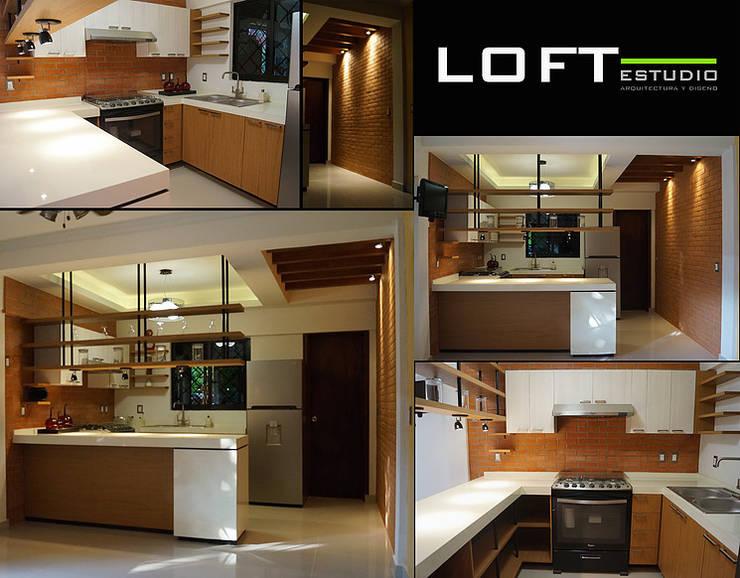 Cocina Vistas: Cocinas de estilo ecléctico por LOFT ESTUDIO arquitectura y diseño