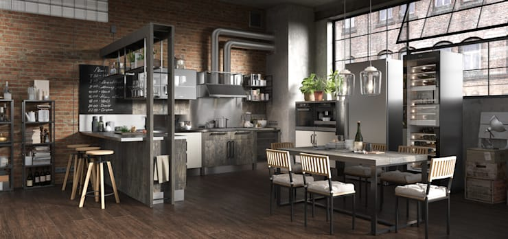 industrial Kitchen by HOMELAND