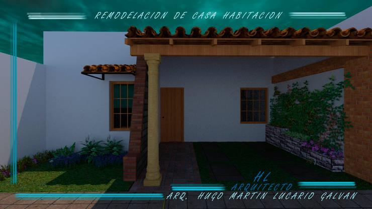 REMODELACION DE FACHADA CASA HABITACION:  de estilo  por HL