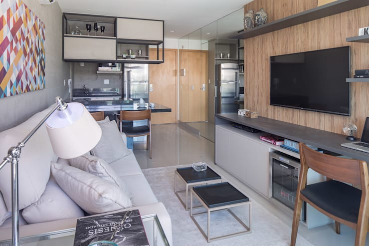 modern Living room by Joana França