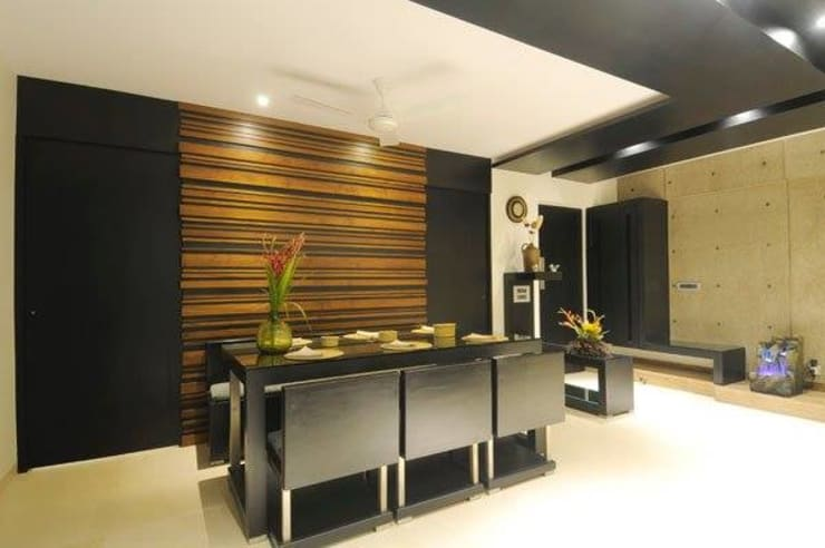2BHK renovated :  Dining room by ShreeJi Interior