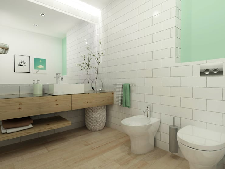 scandinavian Bathroom by homify