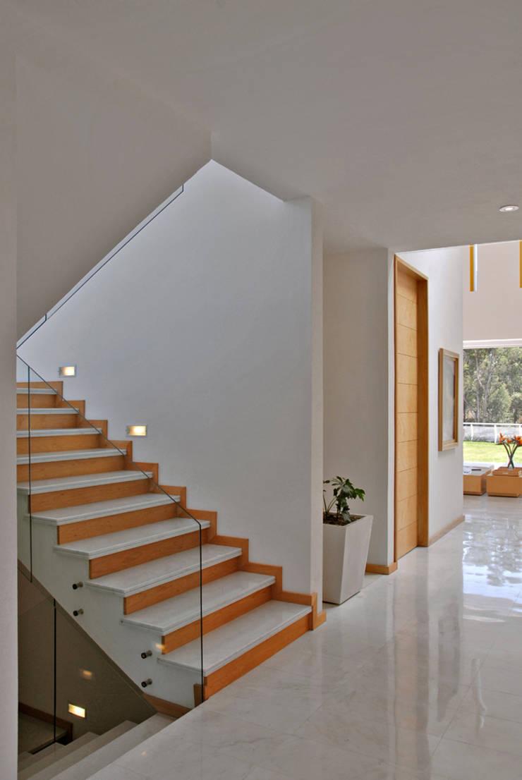 Fotografía: Mito covarrubias: Pasillos y recibidores de estilo  por Agraz Arquitectos S.C.