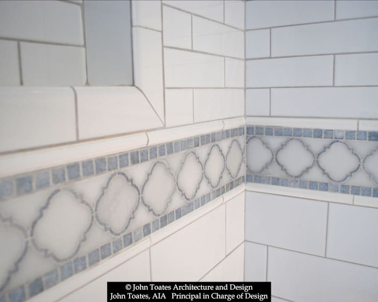 Tile Detail:  Bathroom by John Toates Architecture and Design